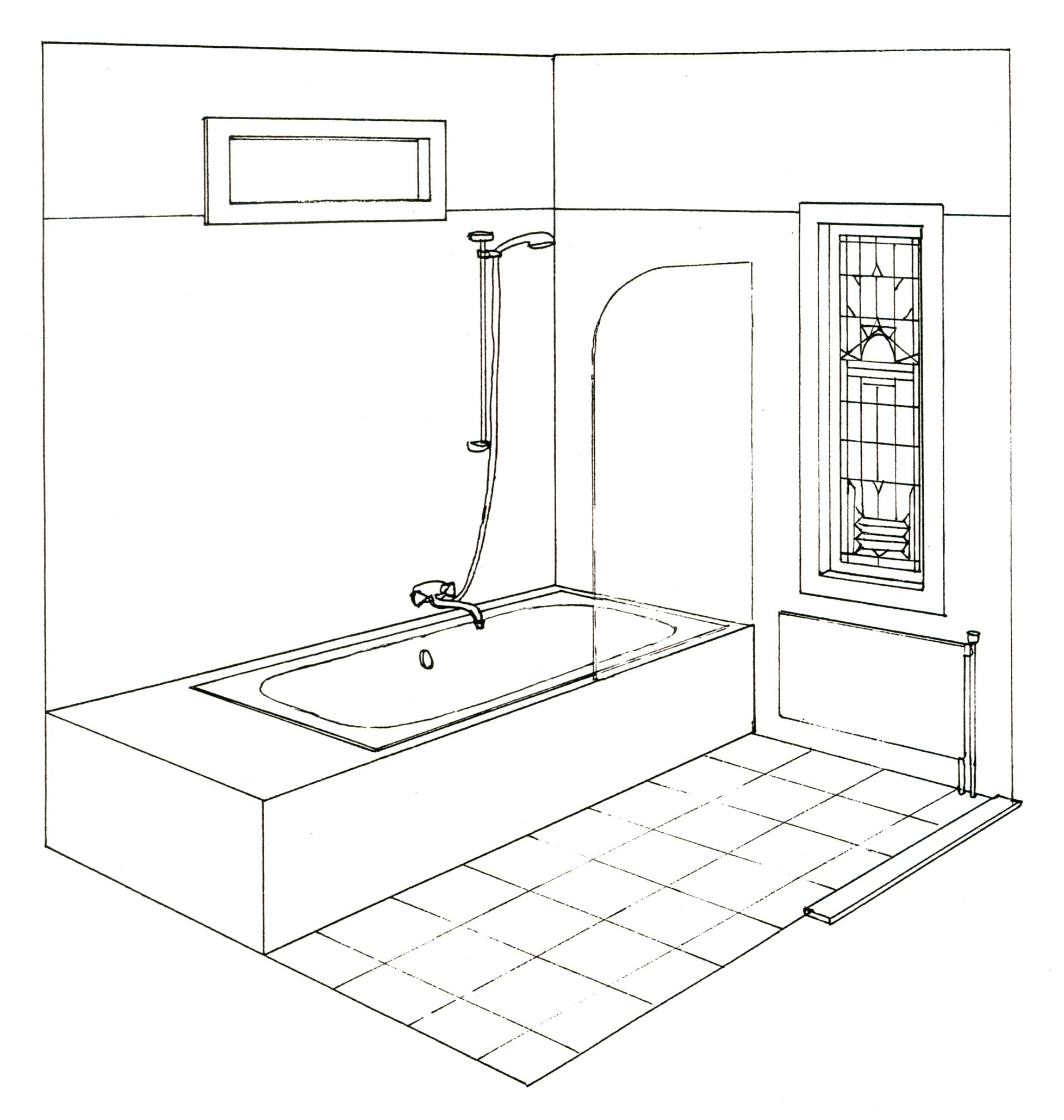 Radiatorombouw zelf maken for Tekening badkamer maken