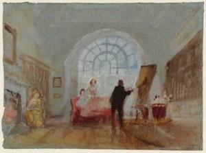 Het interieur van Petworth House door J.M.W. Turner