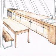 Keuken en kantoor
