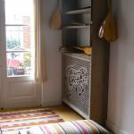 De radiator geeft nu warmte en schoonheid