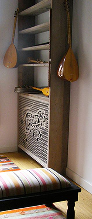 Radiator uit het zicht en extra kastruimte