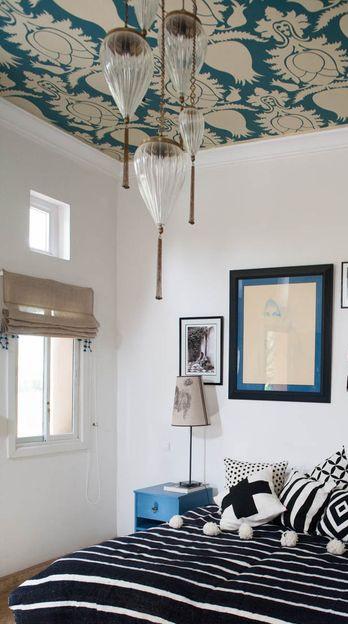 plafond behang
